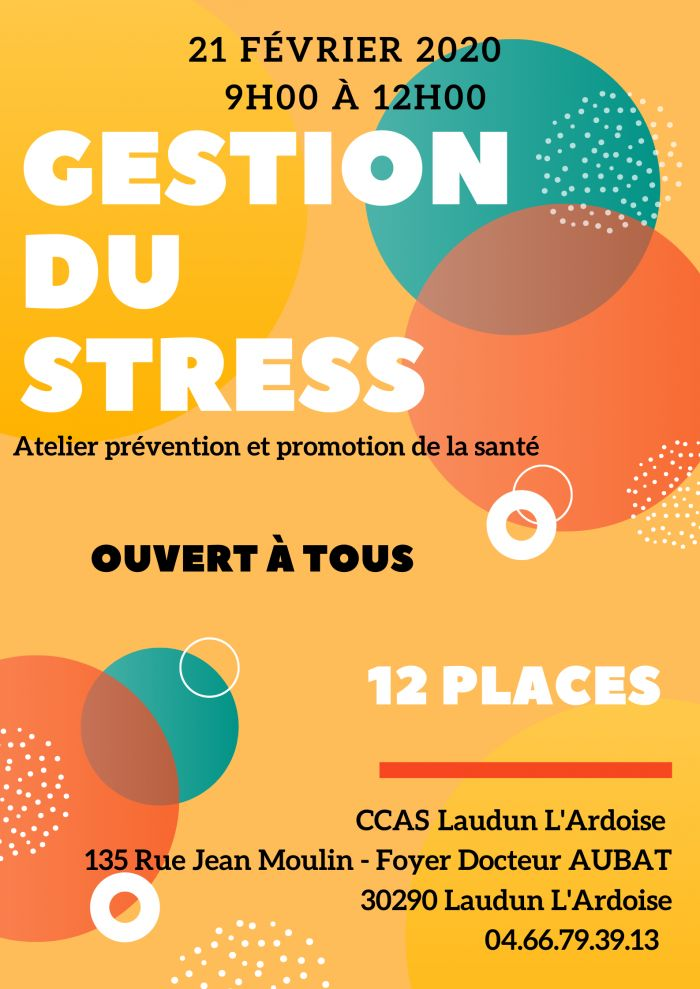 Atelier Prévention - Gestion du Stress