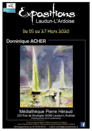 Exposition de peinture Dominique ACHER
