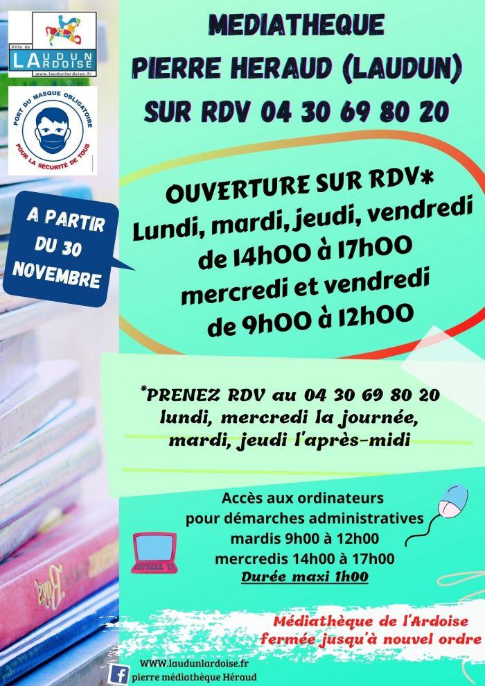 ouverture sur RdV Médiathèque Pierre Héraud