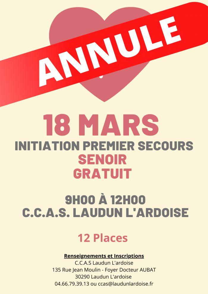 Atelier Santé SENIORS : initiation 1er secours