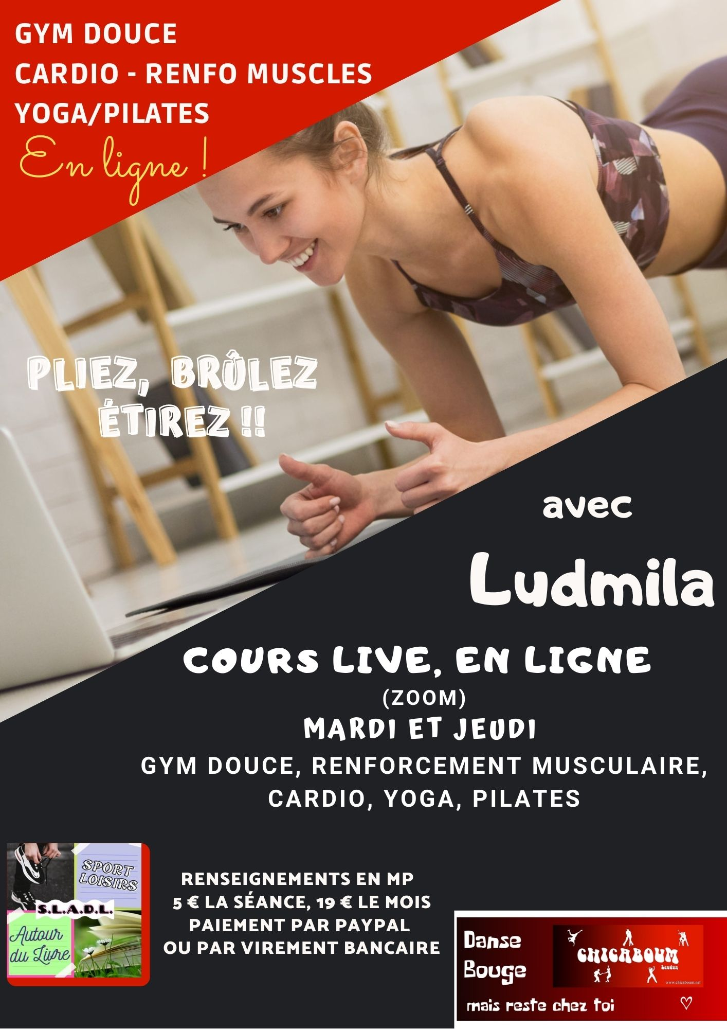 GYM DOUCE CARDIO RENFO MUSCLES YOGA PILATE