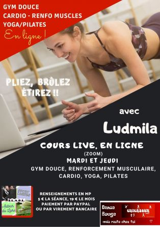 Cours de gym douce, cardio, yoga, pilates en direct !