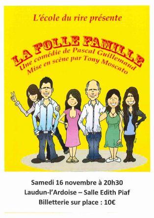 """Comédie """"La folle famille"""""""