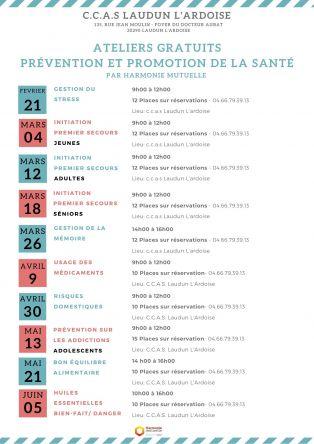Atelier Santé JEUNES : initiation 1er secours