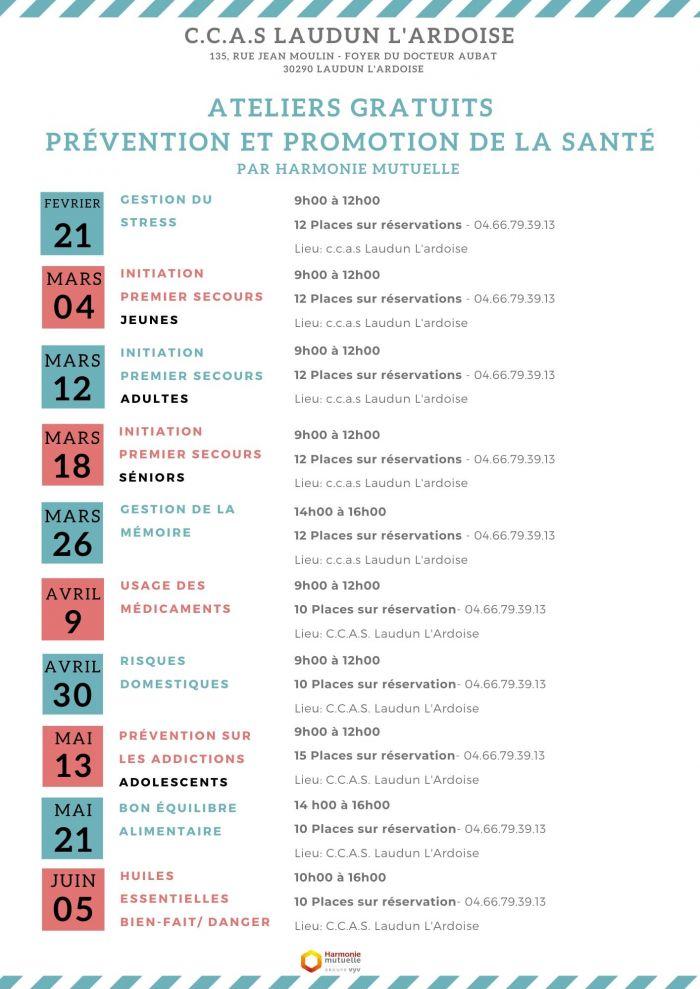 Atelier Santé ADULTES : initiation 1er secours