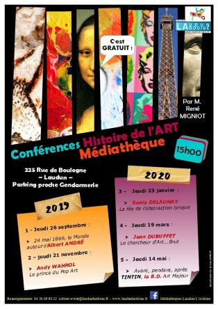 Conférence Histoire de l'Art