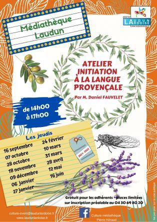Atelier Initiation Langue Provençale